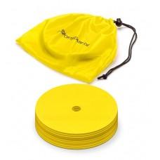 Marking discs ø 15,5 cm Set of 12 yellow
