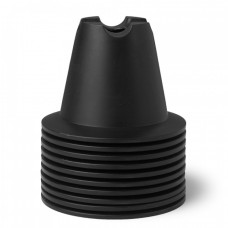 CONE SET 10 CM Black 10 pices