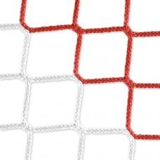 Goal net (red-white) - 5 x 2 m, 4 mm PP, 80 150 cm