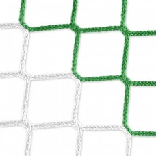 Goal net (green-white) - 5 x 2 m, 4 mm PP, 80 150 cm