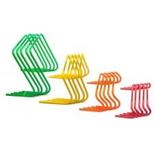 5 Mini hurdles - XXL - width 60 cm green