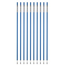 10 Slalom poles 160 cm diameter 25 mm - Blue