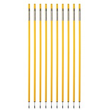 10 Slalom poles 160 cm diameter 25 mm - yellow