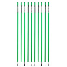 10 Slalom poles 160 cm diameter 25 mm - green