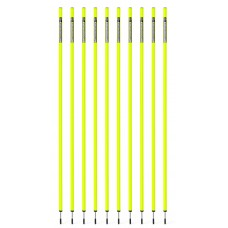 10 Slalom poles 160 cm diameter 25 mm - Neon yellow