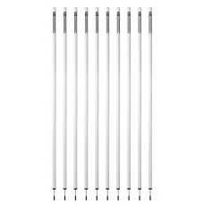 10 Slalom poles 170 cm diameter 32 mm - White