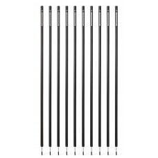 10 Slalom poles 170 cm diameter 32 mm - Black