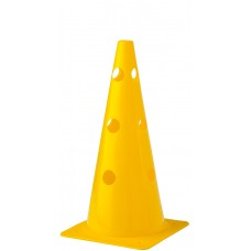 Cone with holes Height 38 cm Yellow