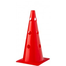 Cone with holes Height 38 cm Red