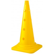 Cone with holes Height 52 cm Yellow