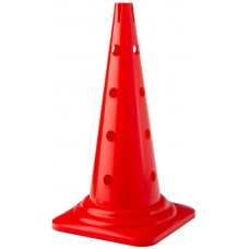 Cone with holes Height 52 cm Red