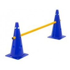 Cone Hurdle Single Hurdle Height 38 cm Blue