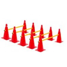 Cone Hurdles Set of 5 Height 38 cm Red