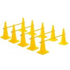 Cone Hurdles  Set of 5 Height 52 cm Yellow