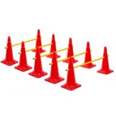 Cone Hurdles Set of 5 Height 52 cm Red