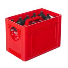 T-PRO BottleCarrier box for drinking bottles Red